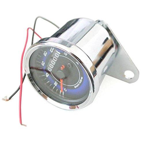 Generic LED velocí metro del odó metro doble calibre contador para moto Universal JRL