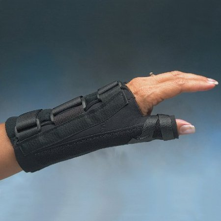 """D-ring Thumb Spica and Wrist Splint : Right; Large8-3/8"""" to 9"""" (21 to 23cm)"""
