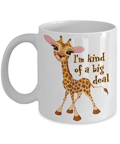 April The Giraffe. I'm Kind Of A Big Deal 11 oz White Ceramic Coffee Mug. April The Giraffe 's Baby (Print Mug Giraffe)
