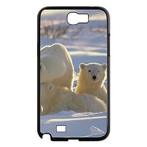 ALICASE Diy Design Back Case Polar Bear for Samsung Galaxy Note 2 N7100 [Pattern-1]