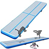 Cotogo Air Track Tumbling Mat Gymnastics Inflatable Airtrack Gym Mats with Electric Air Pump Home Indoor Workout Training Cheerleading Use
