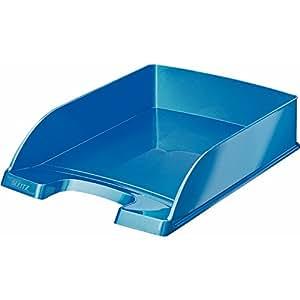 Leitz WOW - Bandeja portadocumentos, color azul metalizado