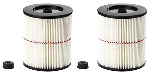 Cheap 17816 Shop Vac Filter Replacement for Craftsman Wet Dry Vacuums 5 gallons or Bigger (2)