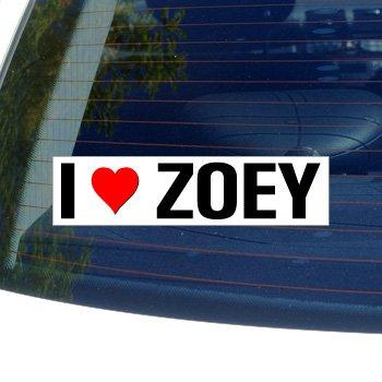 I Love Heart ZOEY - Window Bumper Laptop Sticker (Hearts Zoey)