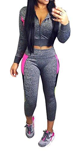 Ybenlow Sweatsuit Tracksuit Sweatshirt Sweatpants
