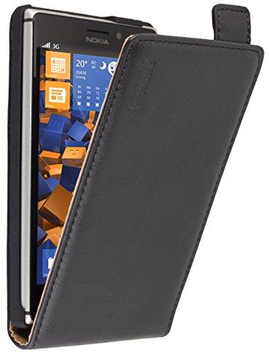 mumbi Premium Leder Flip Case Nokia Lumia 925 Tasche