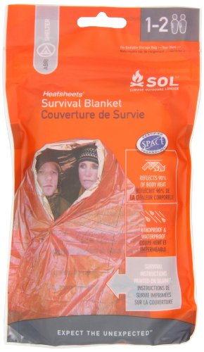 Adventure Medical Kits Sol Survival Blanket, Two Person, 3.2-Ounce (pack Of -