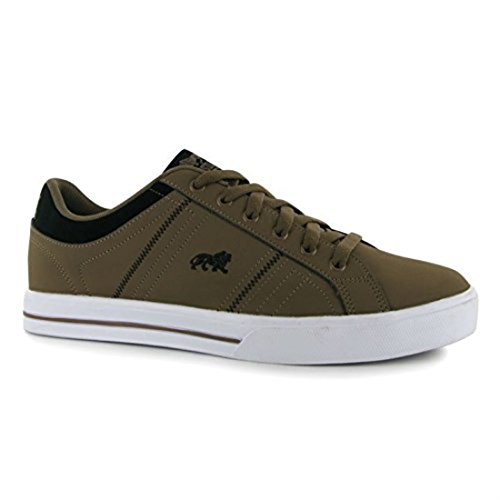 Lonsdale Mens Latimer Trainers Leather Upper Sport Shoes Casual Trainers Lace Up Brown yQeBiMi