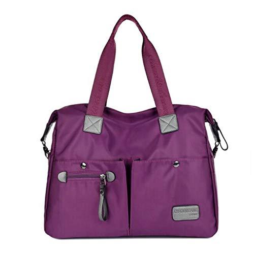 Sac de voyage sac en nylon imperméable Messenger bag sac à main lady sac L code B213 violet