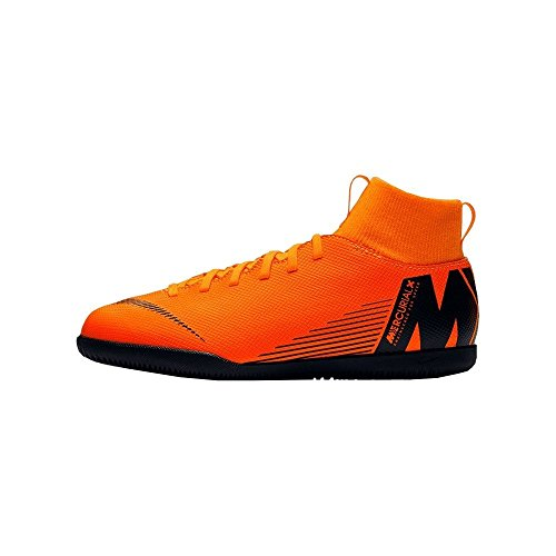 t NIKE Zapatillas Black Unisex Superflyx IC 810 Jr Club de 6 Multicolor Adulto Deporte Total Orange rHrwx