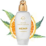O Naturals Anti-Aging Vitamin C Face Serum with Organic Hemp & Hyaluronic Acid. Antioxidant Rich Day & Night Formula for Dry Skin. Instantly Moisturizes, Hydrates, Reduces Wrinkles & Plumps Skin 1.7Oz