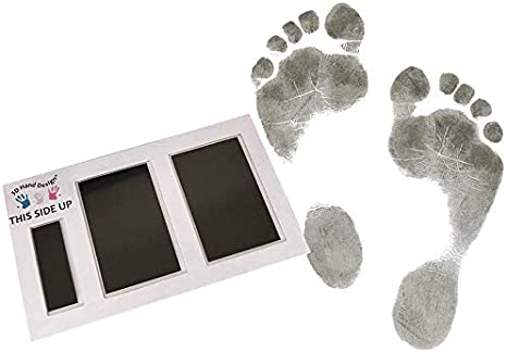 negro Magic Footprint Standard Color de papel: blanco m/áximo 8 Huellas para reci/én nacidos y beb/és hasta 3 meses en cualquier papel Kit Huella del Pie
