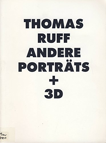 Thomas Ruff Andene Portraits (German Edition) by Hatje Cantz