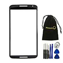 Mencia Cell Phone Replacement Front Screen Outer Glass Replacement Part For Google Nexus 6 Motorola Xt1100 Xt1103 Black+tools