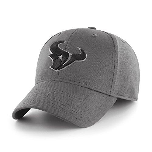 OTS NFL Houston Texans Comer Center Stretch Fit Hat, Charcoal, - Texans Hat Houston