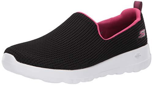 Skechers Women's GO Walk JOY-15637 Sneaker, Black/hot Pink, 8.5 M ()