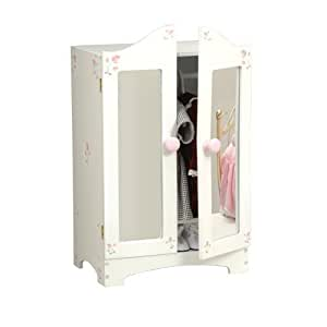 """Wooden Armoire Wardrobe for 18"""" Doll"""