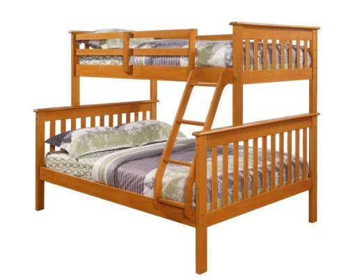 Twin/Full Bunk Bed - Honey Finish - Mission Style
