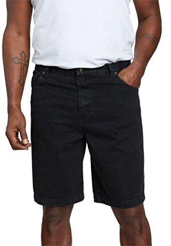 Black 5 Pocket Short - Liberty Blues Men's Big & Tall 5 Pocket Denim Shorts, Black Big-58
