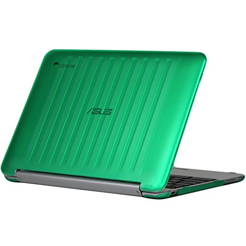 iPearl mCover Hard Shell Case for 10.1-inch ASUS Chromebook Flip C100PA Series Laptop - Green