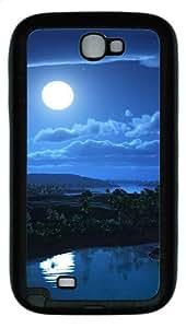 Samsung Galaxy Note II N7100 Case,Night sky background TPU Custom Samsung Galaxy Note II N7100 Case Cover Black