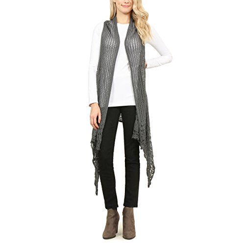 MYS Collection Crochet Pattern Vest (Gray) from MYS Collection