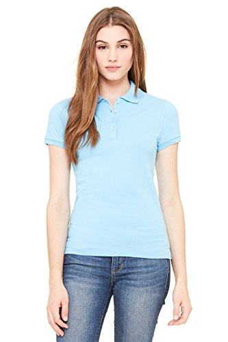4b913044 Amazon.com: Zara Yoga Studio |LA| Women's Cotton Spandex Mini Pique Short  Sleeve Polo: Clothing