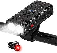 Bike Lights Set, USB Rechargeable Bike Lights Front and Back, IPX5 Waterproof 1000 Lumen LED Bicycle Headlight