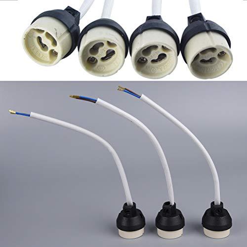 Price comparison product image Ceramic GU10 Base Socket Adapter Wire Connector Porcelain Halogen GU10 Lamp Holder LampHolder for LED Spot Light Bulb