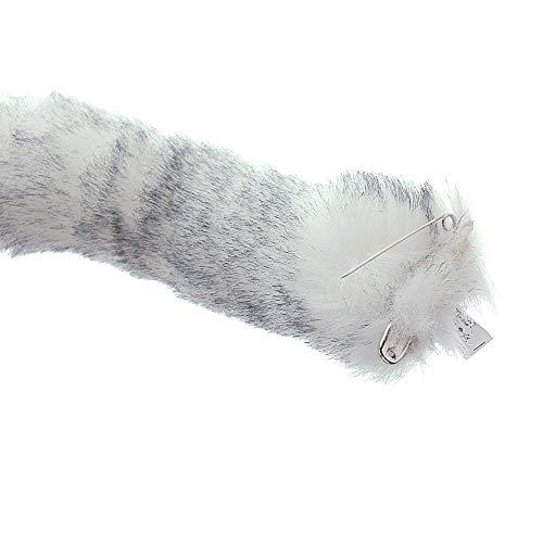 E-TING Cat Tail Long Fur Neko Anime Cosplay Party Costume Lady Girls (Cute Fox Tail)