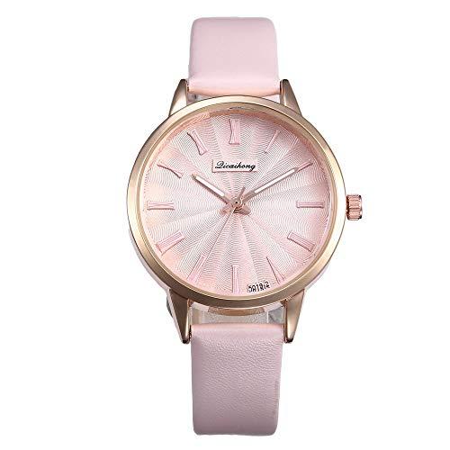 XBKPLO Quartz Watches for Women Fashion Minimalist Texture Analog Wrist Watch Bracelet Business Leather Belt Watch Ladies Gift