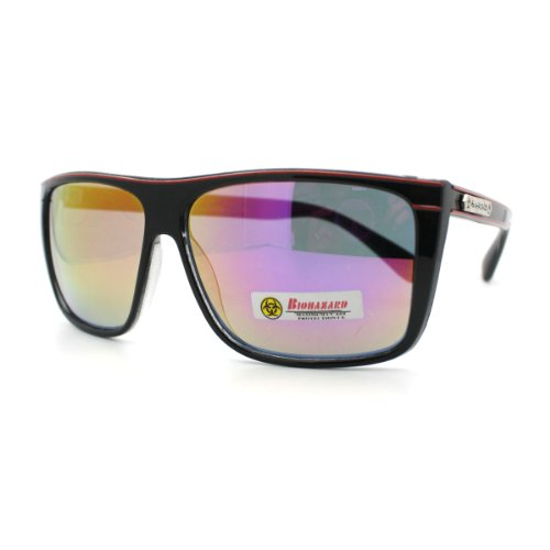 72d03bac90b New Biohazard Sunglasses Mens Square Sporty Skater Fashion Frame Black  Purple Revo Lens - Buy Online in Oman.