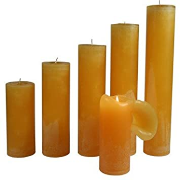 Maria Buytaert Cl Ical Pillar Candles Sun Yellow 37 Cm Gold One