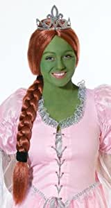 Princess Fiona Shrek Fancy Dress Kit Wig, Tiara, Makeup (peluca)