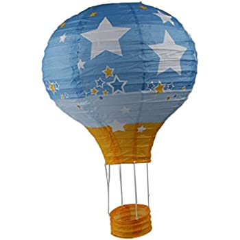 1pc Of Lovely Theme Hot Air Balloon Paper Lantern Party Decoration Supply 12 30cm Choose Color Light Blue Yellow