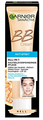Garnier BB Cream Miracle Skin Perfector Matt-Effekt Hell, getönte Tagescreme mit Vitamin C und Sonnenschutz, 40 ml