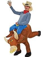 Gemmy Industries Hk Mens The Illusion Bull Rider Adult