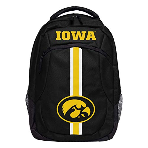 FOCO NCAA Iowa Hawkeyes Action BackpackAction Backpack, Team Color, One Size
