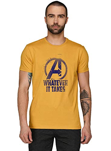 ADRO Men's Regular Fit T-Shirt (RNR-M-WHA-MU-S_Mustard_Small) (B083V1QQ7K) Amazon Price History, Amazon Price Tracker