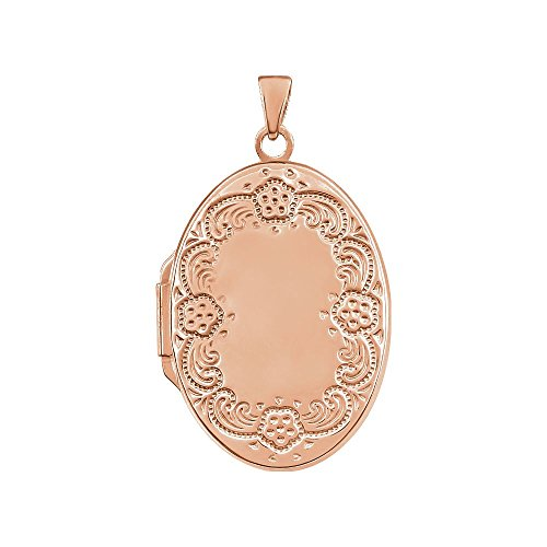 STU001- 14K Rose Gold-Plated Sterling Silver Oval Locket by STU001-