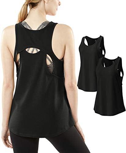 レディース スポーツシャツ スリーブレス タンクトップ 袖なし [UVカット・吸汗速乾] ヨガウェア フィットネス ジム