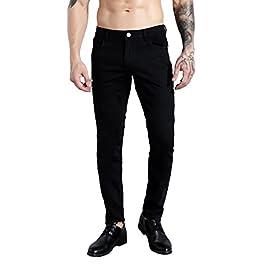 ZLZ Men's Slim Fit Stretch Comfy Fashion Denim Jeans Pants