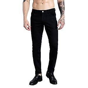 ZLZ Men's Skinny Slim Fit Stretch Comfy Fashion Denim Jeans Pants