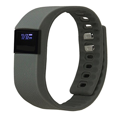 ActiveTec Fitness Tracker Smart Watch Bluetooth Watch Bracelet Smartband Calorie Counter Wireless Pedometer Sleep Monitor Sport Activity Tracker Android IOS Phone-Gray