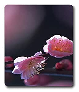 black mouse pad Pink Blossom Flowers PC Custom Mouse Pads / Mouse Mats Case Cover