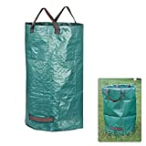 Garden Bag Reuseable Heavy Duty Gardening Bags, Lawn Pool Garden Leaf Waste Bag Durable PP Garden Leaves Bag Reusable Yard Leaf Weeds Grass Container Storage House Garbage Trash Bucket Bag.