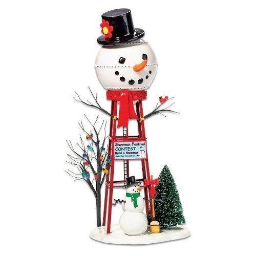 Department 56 Accessories for Villages Snowman Watertower Figurine (Polyresin Snowman)