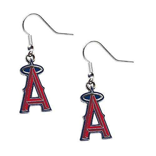 (Los Angeles Angels Dangle Logo Earring Set Mlb Charm Gift)