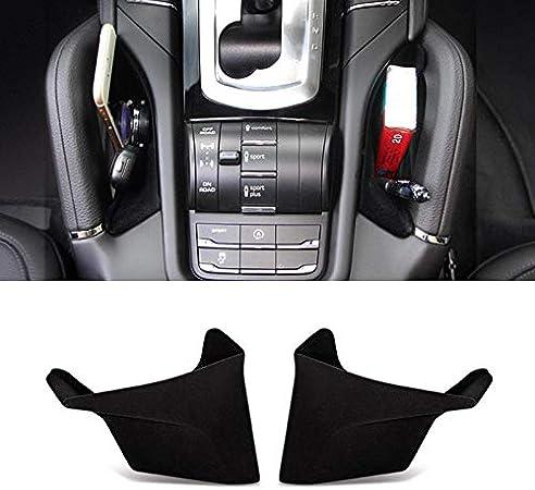 Fit for Porsche Cayenne 2011-2017 Interior Car Center Console Seat Side Storage Box Holder Organizer 2PCS Brown