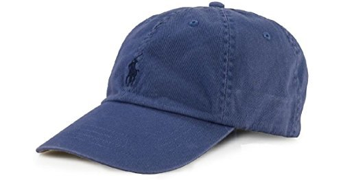 POLO RALPH LAUREN Mens Polo Player Hat adjustable buckled back strap, One Size, Carson Blue